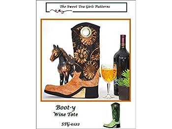 Sweet Tea Girls Boot-y-Wine Tote Ptrn Pattern