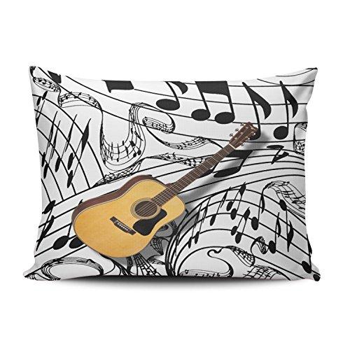 XIUBA Fundas de almohada de color marrón y blanco Gutar personalizable cojín rectangular decorativo de 30,5 x 45,7 cm, funda de almohada con cremallera oculta, diseño impreso en un lado