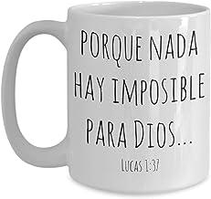 Tazas religiosas, regalos cristianos para hombre mujer pastores mama papa, Tazas religiosas en español, Nada hay imposible...
