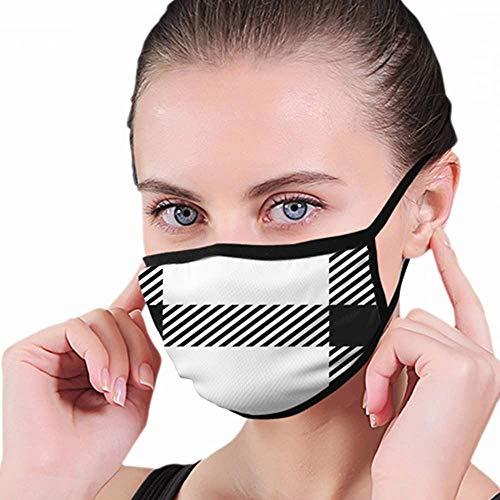 Mondmasker, Schotse ruit Schotse traditionele stof Schoonheid Mode Zwart Vintage gezicht en neusbedekking, Elastische gepersonaliseerde mondbeschermers voor skifietsen Kamperen