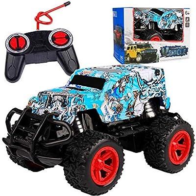 Amazon - Save 70%: Wireless Four-Way Remote Control Off-Road Vehicle Model Graffiti Toy Car (B)