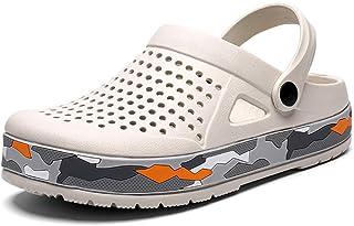 FJPTREN Summer Men's Clogs Breathable Mesh Slippers Mules Sandals for Garden,Room,Kitchen,Beach
