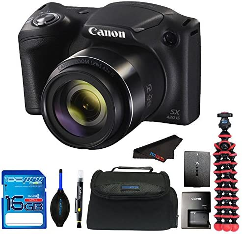 Canon Digital Camera PowerShot SX420 is w/ 42x Optical Zoom + Pixi Accessory Bundle