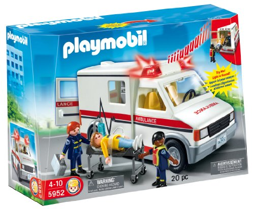 Playmobil - Ambulancia con luces y sonido 5952