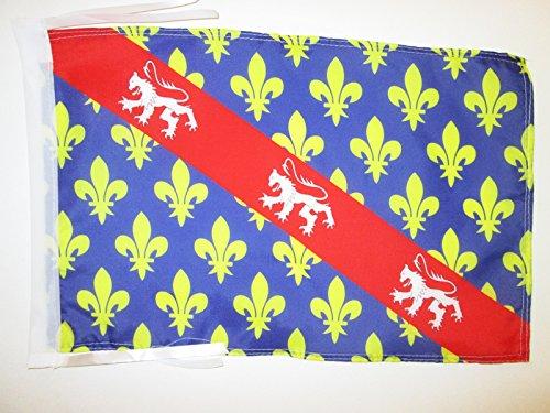 AZ FLAG Flagge DÉPARTEMENT CREUSE 45x30cm mit Kordel - CREUSE Fahne 30 x 45 cm - flaggen Top Qualität