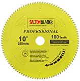 TCT255100TPRO Saxton Professional Range TCT - Hoja de sierra circular (255 mm x 100 T x 30 mm, calibre 16, 20, 25, 25,4 mm) compatible con Anillos de reducción Evolution Bosch Makita Dewalt, etc.