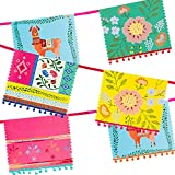 Talking Tables Bunt MUL Boho Mixed Pom Garland, Papel, Multicolor