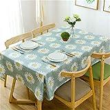 Manteles Gruesa De Algodón Reactivo Impreso Girasoles Lona De Girasol Tela Manteles De Mesa De Café (Color : Blue, Size : 140X180CM)