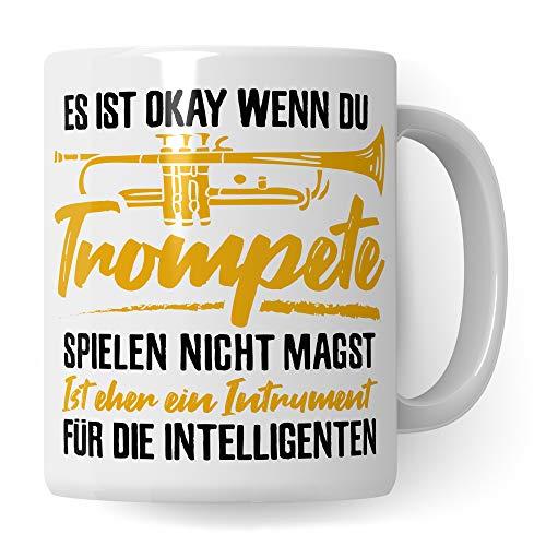 Pagma Druck Trompete Tasse, Musiker Geschenke Trompete, Kaffeetasse Trompeter Trompetenspieler Deko, Trompete Geschenkideen Becher Musiker Blechbläser Dekoration Spruch