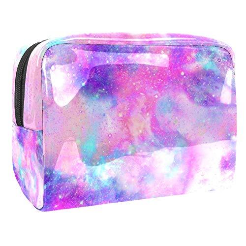 Trousse de toilette multifonction pour femme Galaxy Nebula Art Violet