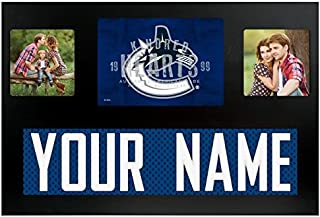 Vancouver Canucks NHL Custom Jersey Nameplate and Logo Picture Frame