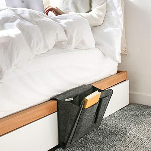 homelikesport Betttasche, Bedside Storage Caddy, Bed Tidy Pocket Organizer mit 5 Taschen für Fernbedienung, Moblie Telefon, iPad, Buch, Stift, Brille
