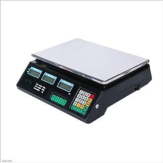Básculas industriales de pesaje electrónico digital de alta precisión, 0,2 g / 40 kg Básculas informáticas de precio Básculas de plataforma Pantalla LCD retroiluminada verde (negro / blanco (negro, 2