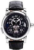 Montblanc Nicolas Rieussec Automático Cronógrafo Negro Dial Mens Reloj 107070
