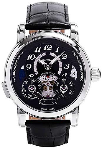 Montblanc Nicolas Rieussec cronógrafo automático reloj para hombre esfera negra 107070