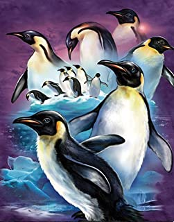 3D Home Wall Art Decor Lenticular Pictures, Penguins Collection Holographic Flipping Images, 12x16 inches Animal Poster Painting, Without Frame, Cute Penguins