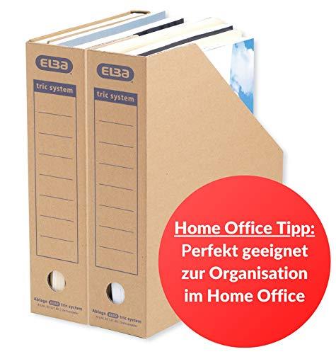 ELBA Stehsammler Pappe, tric system,mit Archivaufdruck, naturbraun, 12er Pack