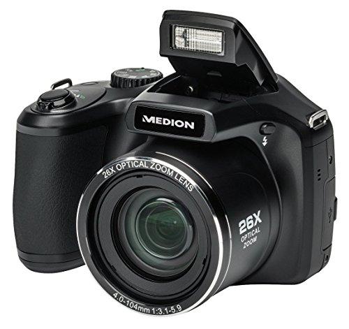 MEDION LIFE X44026 (MD 86826) 7,62cm (3,0 Zoll) 16.0 MP Superzoom-Kamera (Full HD, 26 x Zoom, 3,0