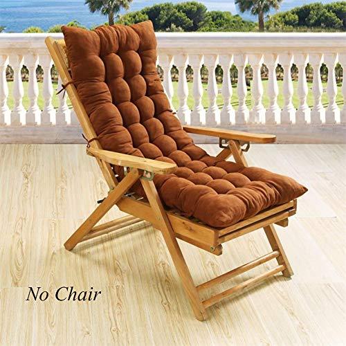 VIVOCFan klapstoel schommelstoel schommelstoel, katoenen pad dikker hoge rug stoel pad Chaise Lounge kussen zonder stoel 48x122cm (19x48inch)