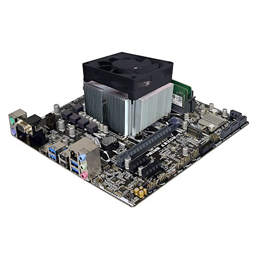 ADMI COMPONENT BUNDLE: AMD A-serie A6-9500 3.8GHz Turbo CPU, Asus Prime A320M-K moederbord met LED-verlichting, 2400MHZ RAM (LED-verlicht ontwerp, M.2 Ondersteuning, HDMI, 1080p, Gegarandeerd Betrouwbare Stabiliteit en Compatibiliteit PC Upgrade Kit)
