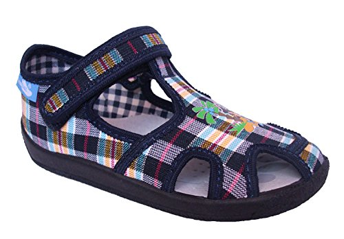 Renbut Jungen Kinderschuhe Kinder Hausschuhe Sandalen Einlegesohle Leder kariert Klettverschluss Schuhgröße EUR 20