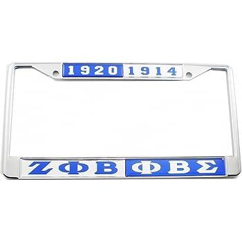 Phi Beta Sigma Chrome License Plate Frames