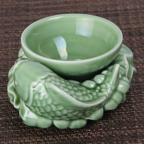 YUXINXIN Creatieve Celadon Keramische Thee zeef Thee Strainer zorgen te veel Thee Accessoires Plum Groene Lotus Vis