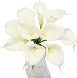 Angel Isabella, LLC 20pc Set of Keepsake Artificial Real Touch Calla Lily with Small Bloom Perfect for Making Bouquet, Boutonniere,Corsage (Ivory)