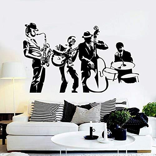 Jazz Band Wall Decal Art Music Studio Decoración Vinilo Adhesivo