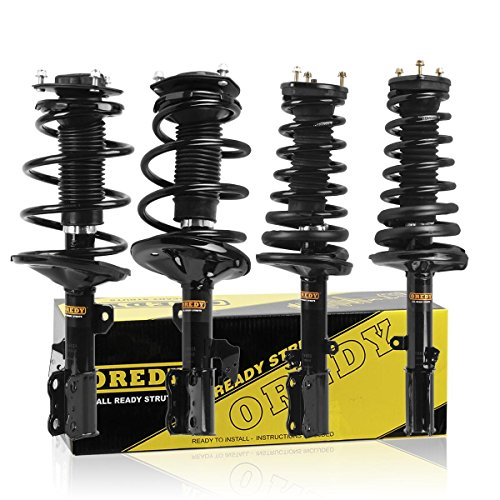 OREDY Struts and Shocks Full Set 4PCS Front Rear Struts Complete Struts Assembly Shocks Struts Coil Spring Suspension Struts Kit 171490 171491 171492 171493 Compatible with ES300/Camry 2002 2003
