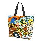 Simpsons Damen Fashion Mädchen Reise Schule Lebensmittel Canvas Einkaufen Geschäft Pendeln Hohe...