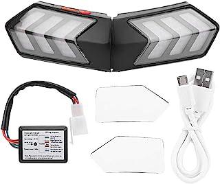 Qii lu Casco inalámbrico para motocicleta LED Luz de seguridad Moto Señal de giro Advertencia Freno Barra de luces