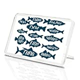 Imanes de vinilo de destino, variedades de pescado y lucio, imán clásico para nevera – regalo de trucha de atún salmón #8151