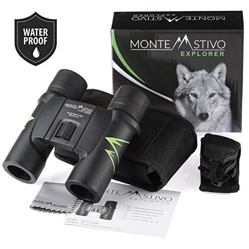 Monte Stivo® Explorer | Premium Reise-Fernglas 10x26 - Wasserdicht mit Anti-Beschlagschutz | Klein Leicht Kompakt