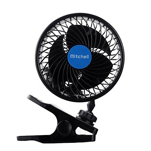 Jhua 12V Car Clip Fan Automobile Vehicle Cooling Car Fan Powerful Quiet Speedless Ventilation Electric Car Fans with Clip Cigarette Lighter Plug for Summer