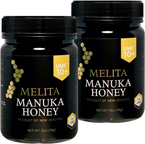 『特大=1kg』MELITA マヌカハニー【UMF10+】大容量 = 1kg x 2本【お得に2本セット】(UMF協会認定)『抗菌作用格付け UMF10+ = MGO263?MGO513に相当』Manuka Honey UMF10+ 1kg x 2pcs