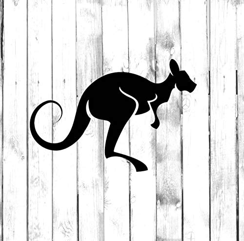43LenaJon Hopping Kangaroo Di Cut Calcomanía para computadora portátil y coche, camión, casa