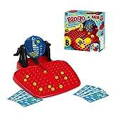 Juego de Bingo Bingo Lotto Juego de Juego Familiar Tradicional, Completo con Bolas de Bingo y cartones de Bingo, máquina de Bingo, dispensador de Bolas Giratorio Familiar, máquina de Bolas