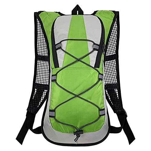 XHLLX Mochila de hidratación Running Mochila 5L Bolsa de Agua de Ciclismo de Alta Capacidad Adecuada para al Aire Libre Senderismo Running Ciclismo Camping Escalada Sports,Verde