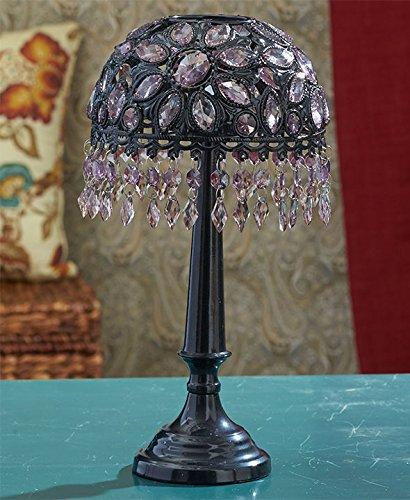 Cuentas de cristal de la colección de la laguna té luz vela lámparas (negro)