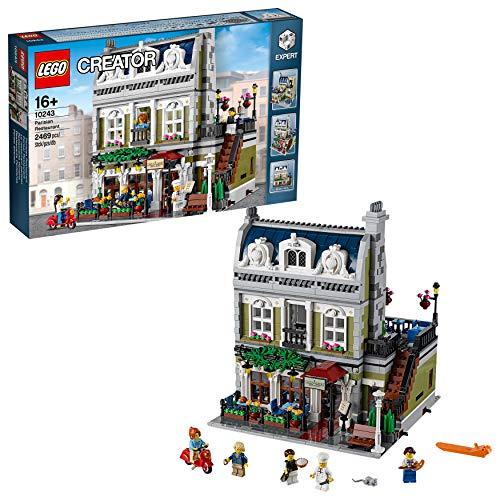 LEGO Creator Expert - Restaurante Parisino, Maqueta de Construcción de Edificio de Paris con Minifiguras de Chef y Camarero a Partir de 16 Años, Regalo Coleccionista (10243)