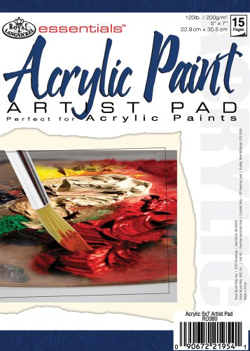 essentials(TM) Acrylic Artist Paper Pad 5'X7', 15 Sheets