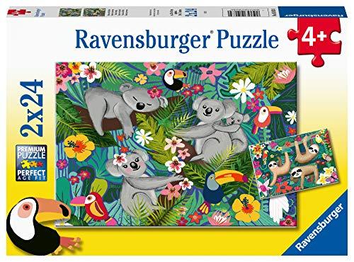 Ravensburger 051830 Koala e Bradipi, Puzzle 2x24 per Bambini, Età Raccomandata 4+