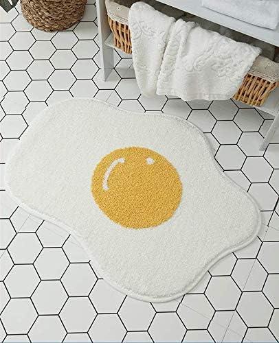 Fancy Soft Bath Mat Washable Boston Mall Shower Rug Feet Tampa Mall x Yolk 2 3 Cute Egg