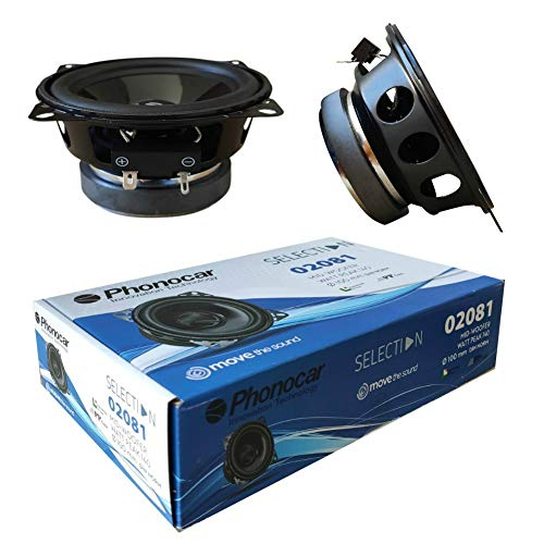 2 Lautsprecher kompatibel mit PHONOCAR SELECTION 02081 woofer 10,00 cm 100 mm 4