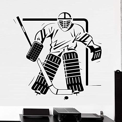 Tianpengyuanshuai Cartoon Sport Eishockey Wandaufkleber Aufkleber Wandtattoo Dekoration abnehmbare dekorative Tapete 50X50cm
