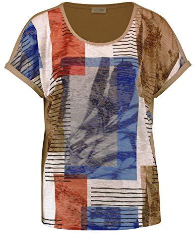 Gerry Weber Womens 1/2 Arm T-Shirt, Braun/Blau Gemustert, 34
