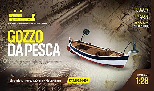MINI MAMOLI - Modello Kit Barca GOZZO DA Pesca Serie Scala 1