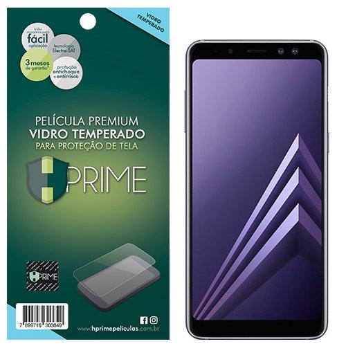 Pelicula de Vidro temperado 9h HPrime para Samsung Galaxy A8 Plus 2018, Hprime, Película Protetora de Tela para Celular, Transparente