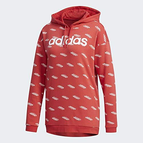 adidas W Fav HDY Sweatshirt für Damen M rot-glo/weiß